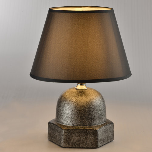 Industrielle Tischleuchte mit Keramikfuß - Bolt