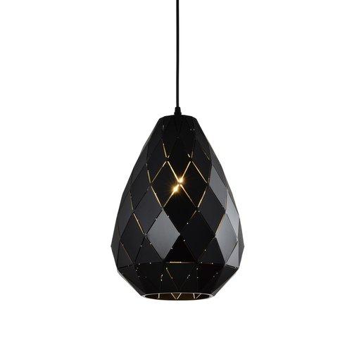 Design-Hängelampe glänzend schwarz - Jupiter