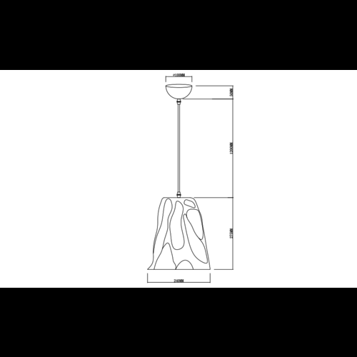 Design-Pendelleuchte mit Rauchglas - Napoli