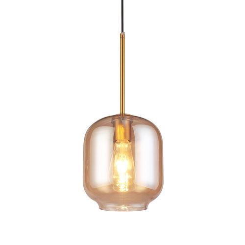 Design-Hängeleuchte mit Braunglas - Venedig