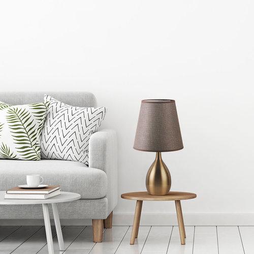 Klassische Tischlampe mit Stoffschirm - Malaga
