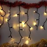 LED Eiszapfen Lichterkette   6 Meter mit 228 Lichtern - warmweiß