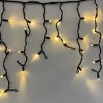 LED Eiszapfen Lichterkette | 12 Meter mit 456 Lichtern - warmweiß