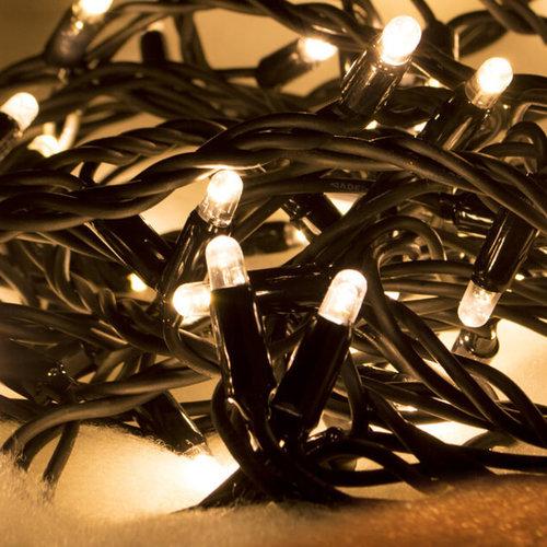 LED Eiszapfen Lichterkette | 18 Meter mit 684 Lichtern - warmweiß