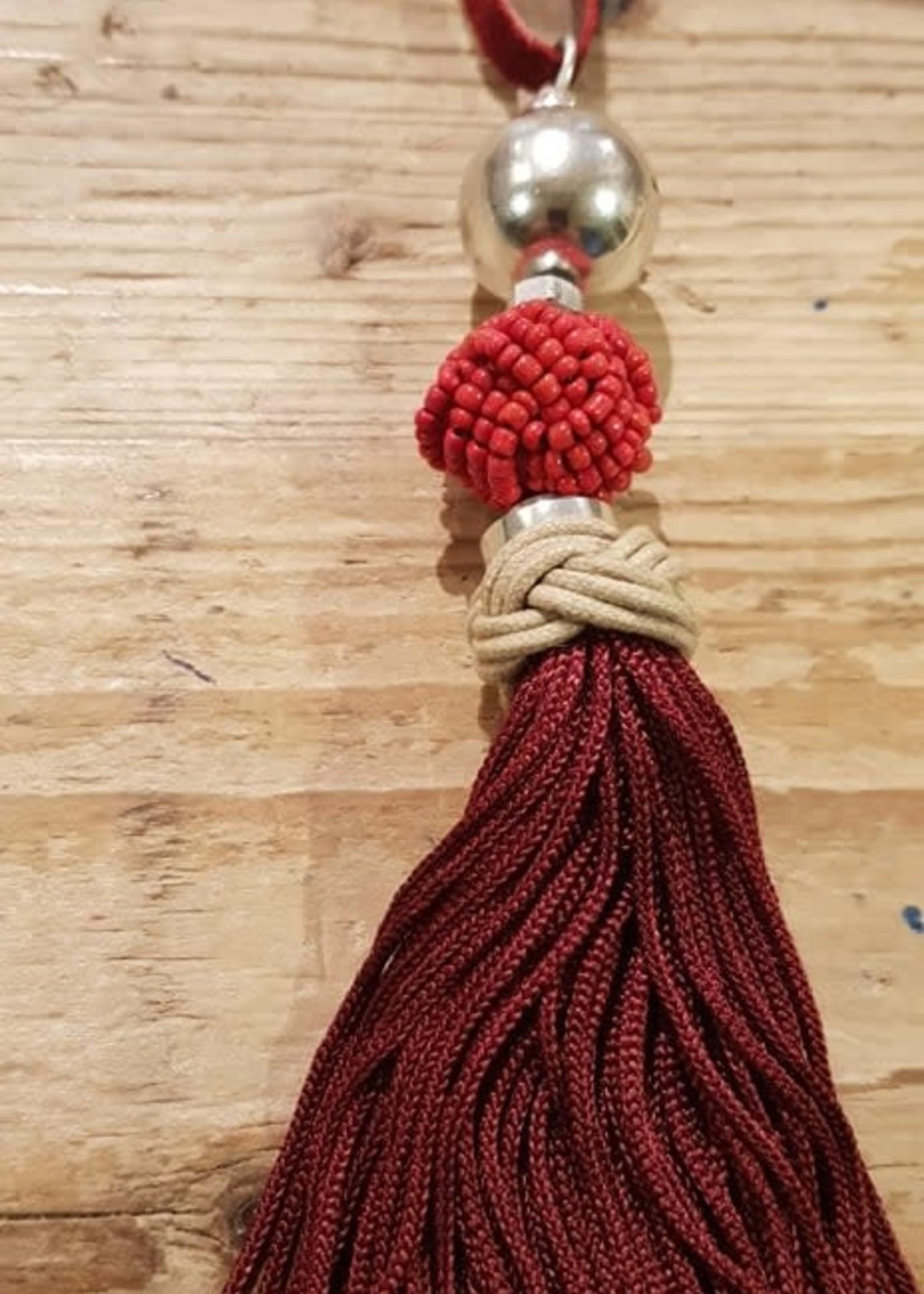 BM ketting met pluim rood