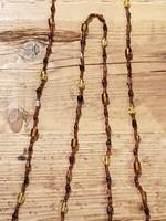 BM Ketting bruin met div steentjes