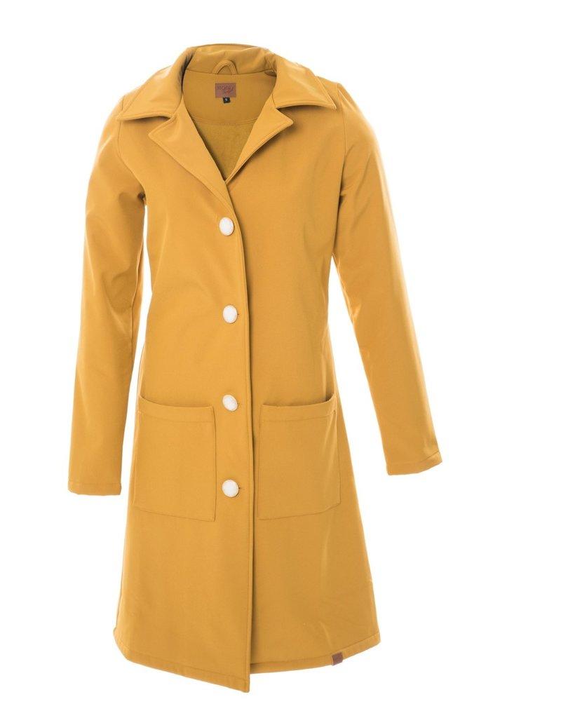 MOOI VROLIJK 20482 MV long jacket okergeel