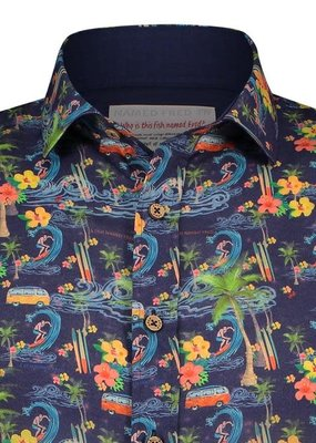 A Fish Named Fred AFNF Shirt Hawaii navy