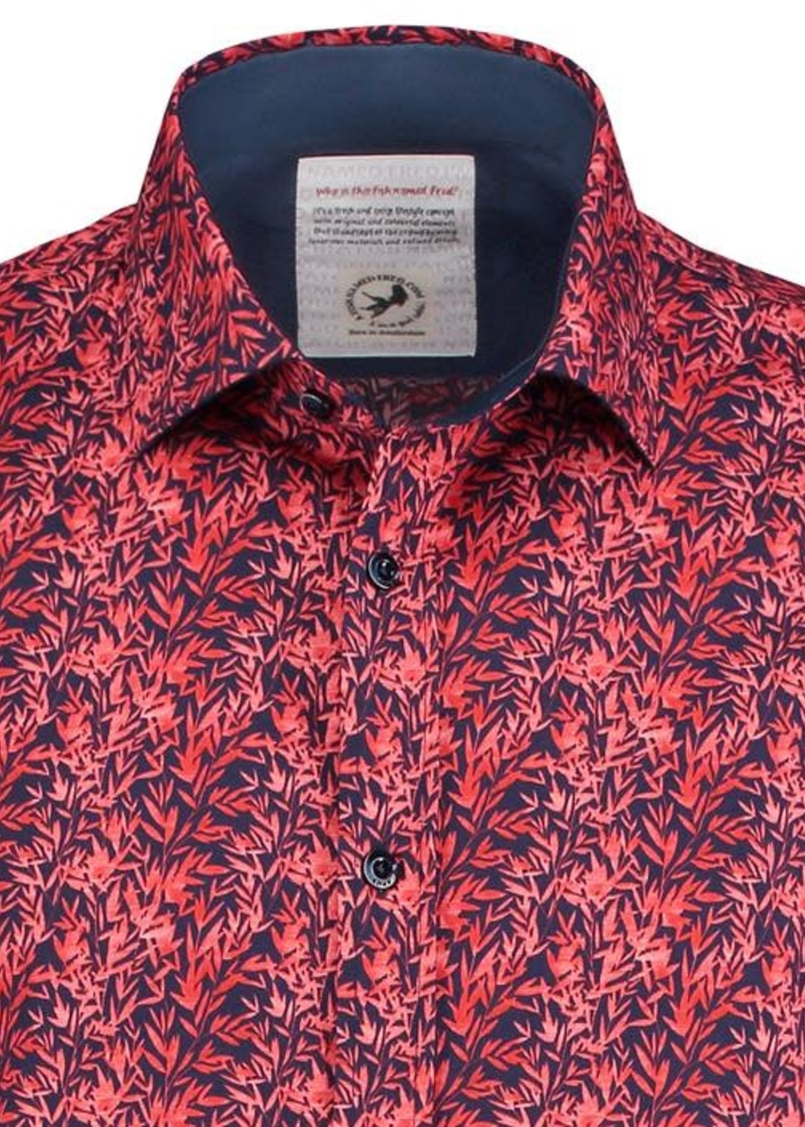 A Fish Named Fred AFNF Shirt Red Leaves