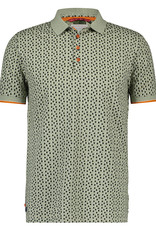 A Fish Named Fred AFNF Shirt SS Polo mini Dots Navy Green