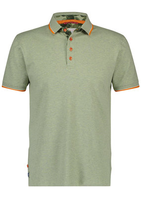 A Fish Named Fred AFNF Shirt SS Polo Green melange