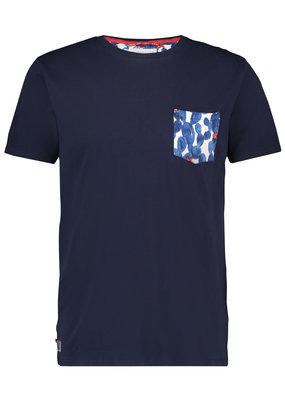 A Fish Named Fred AFNF T-shirt Navy Cactus Maat M