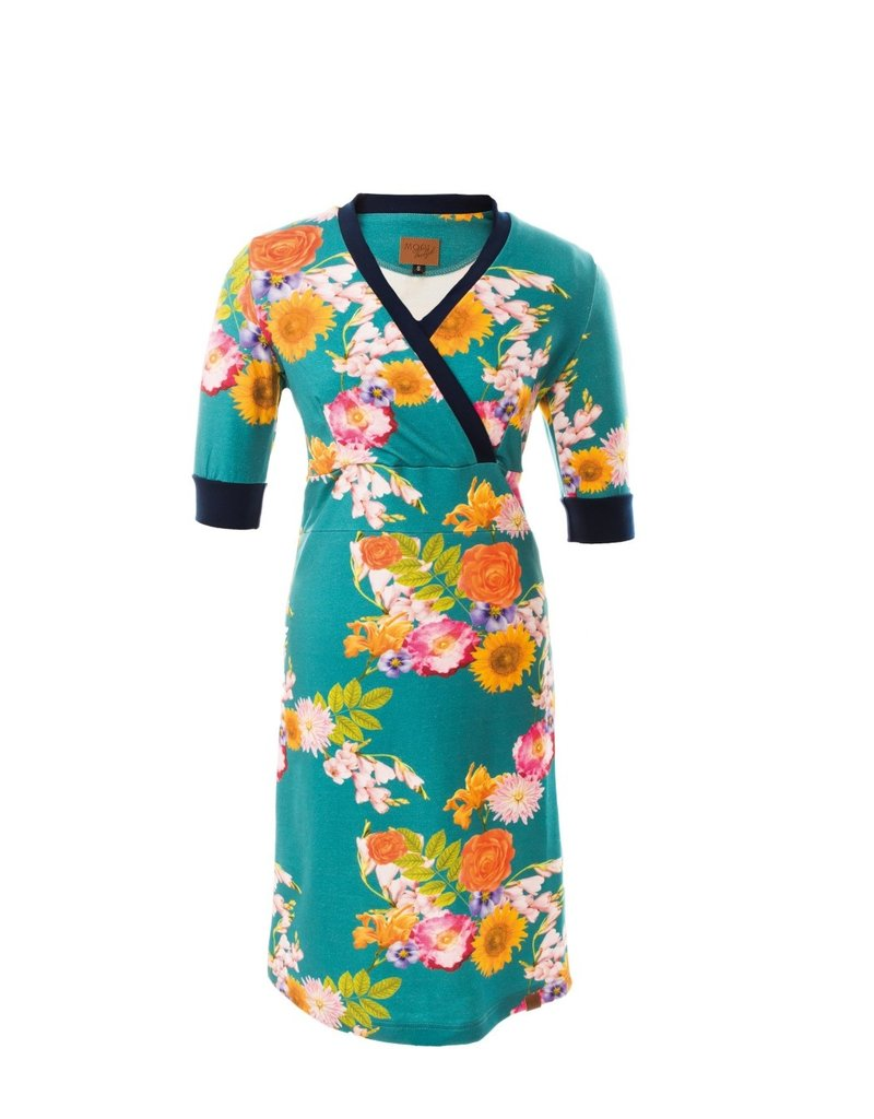 MOOI VROLIJK 20277 MV dress Blue flowers