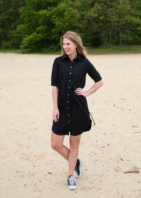 MOOI VROLIJK 20419 MV blouse long basic black