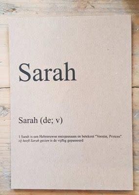 Dikke van Dale kaarten diverse sarah