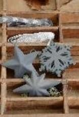 IB LAURSEN ornamenten sneeuwkristal grijs metaal