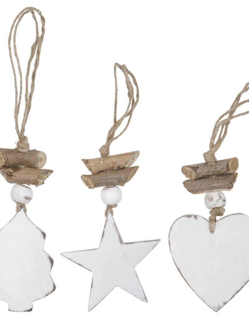 IB LAURSEN Houten ornamenten