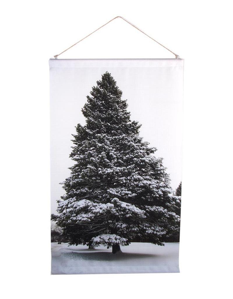 HOMESOCIETY Indoor banier Tree North stof 100x60cm