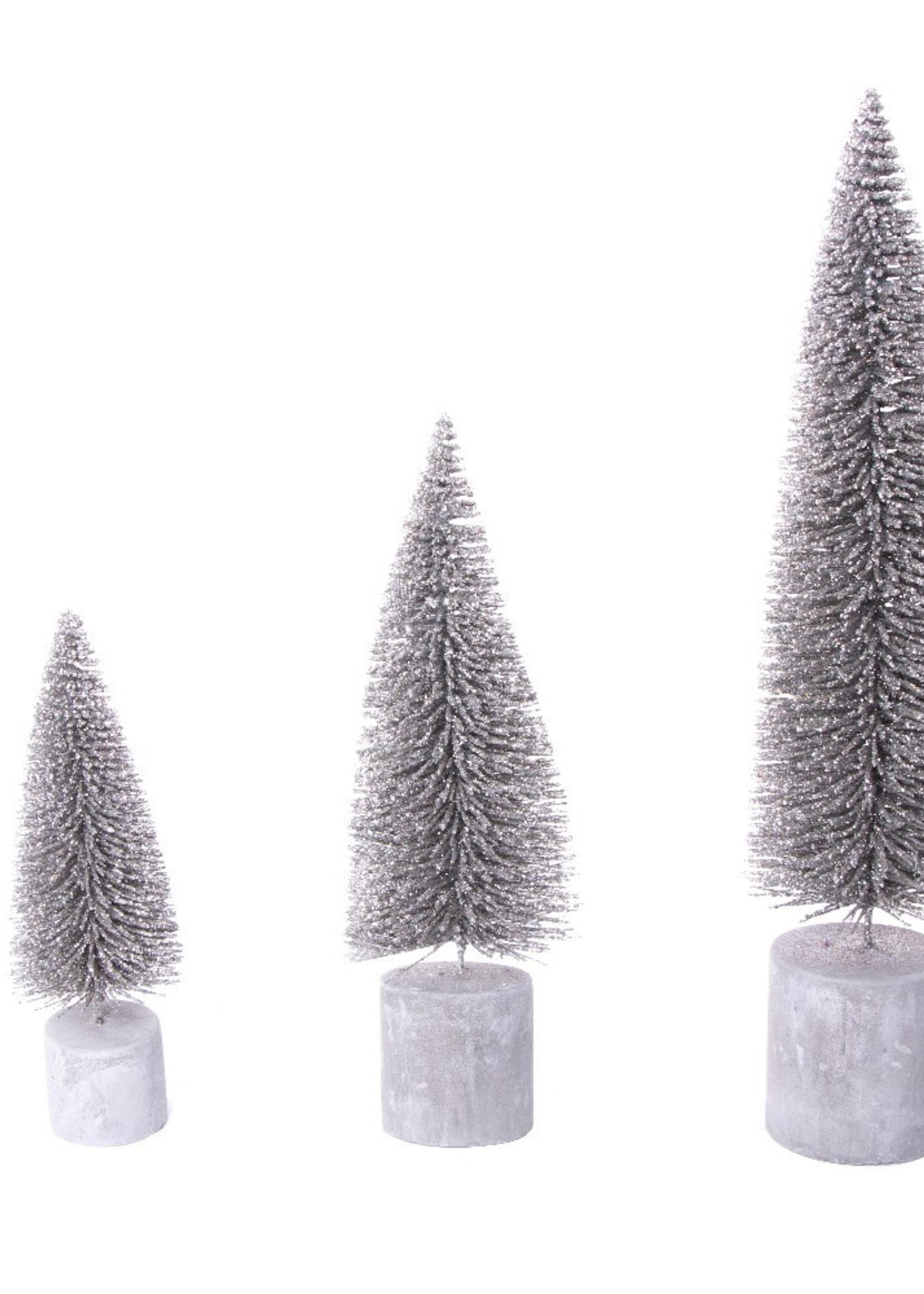 HOME SOCIETY Tree Burk Zilver set van 3