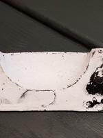 Handvat metaal wit oud