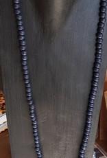 FUSHI FUSHI ketting Buffelkop donker blauw 8mm