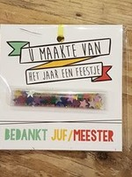 Feestje Juf / Meester kadokaart