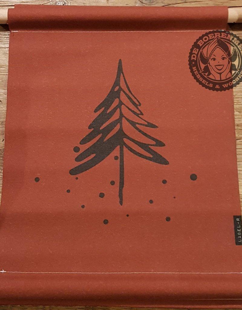Textielposter denneboom Steenrood 40x30cm