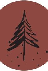 Muurcirkel Denneboom steenrood 40cm