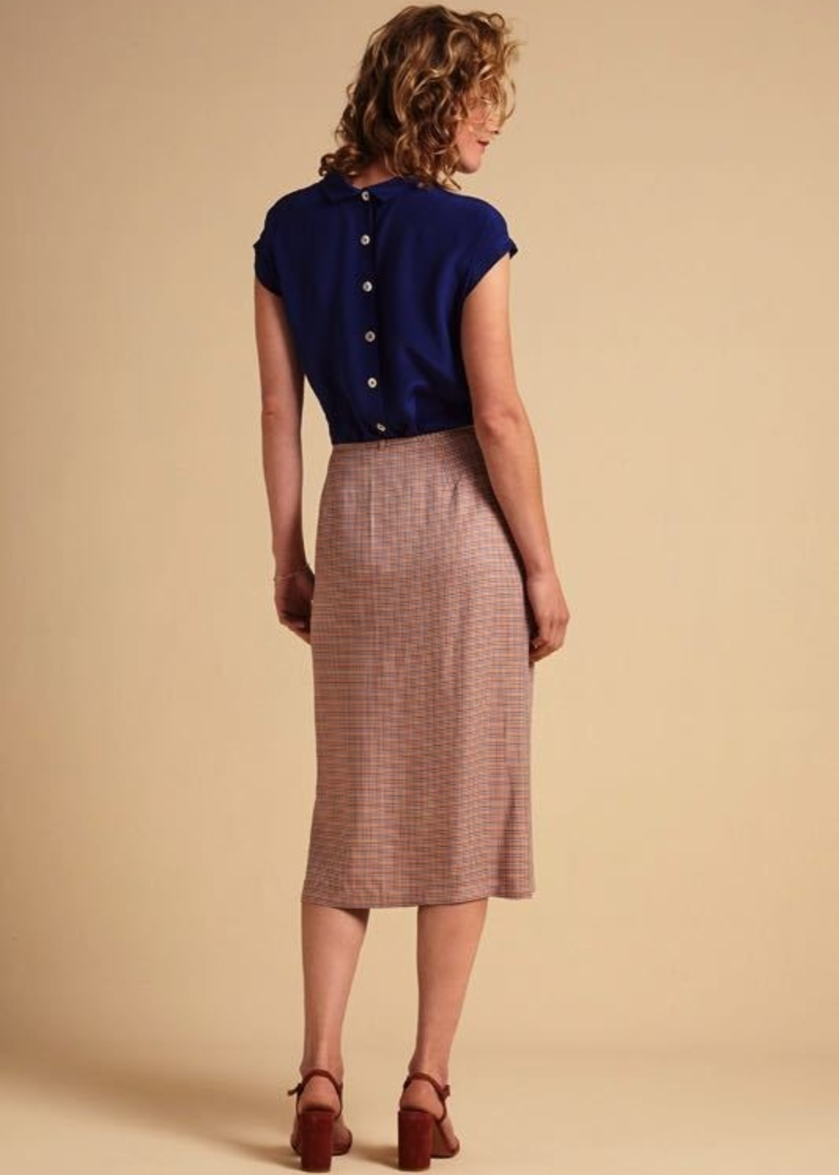 KING LOUIE Straight Wrap Skirt Verveine
