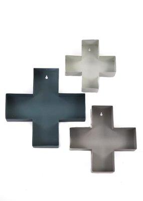 STAPELGOED Set van 3 Wandkruisjes Metaal in kleur