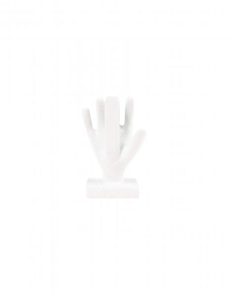 ZUSSS kaartenstandaard hand metaal wit