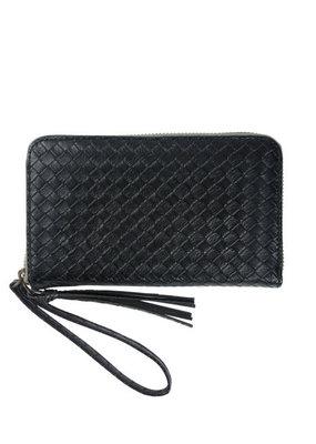 ZUSSS Zwart gewafeld portemonnee