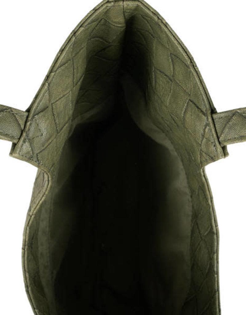 ZUSSS Groen kekke schoudertas gevlochten
