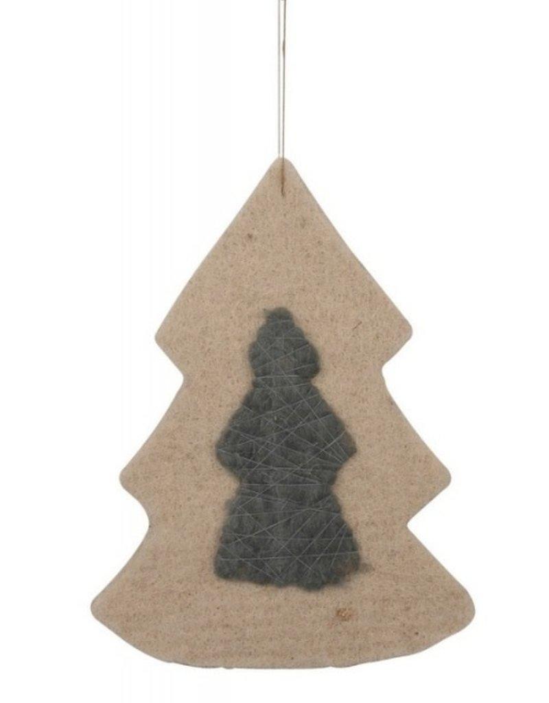 IB LAURSEN Kerstboom versiering van wol