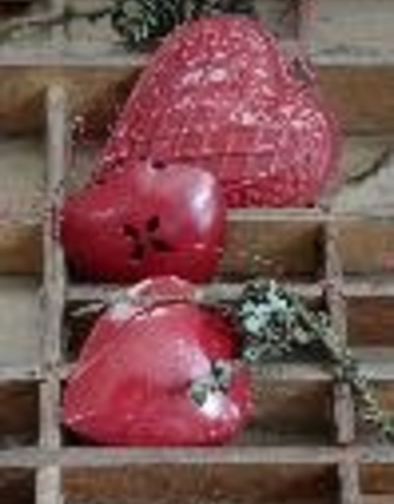 IB LAURSEN Kerst hartjes wit en rood