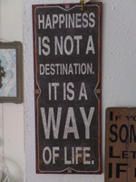 IB LAURSEN Sign metaal: Happiness
