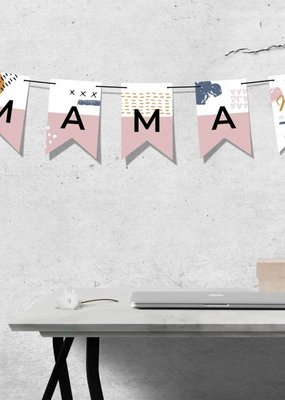 100%LEUK Vlaggenlijn  Mama jij bent de liefste