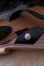 XWORKS Leren slippers XWORKS zwart
