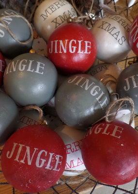 Jingle balls van hout met een belletje