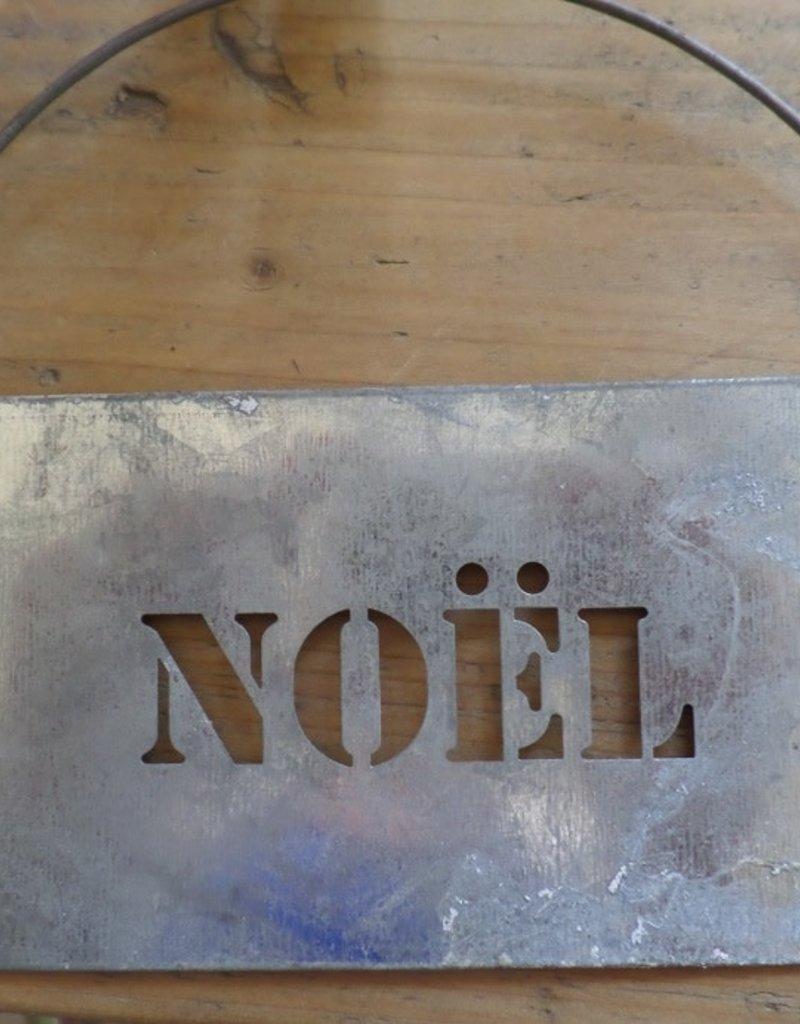 IB LAURSEN zinken plak met tekst Noel