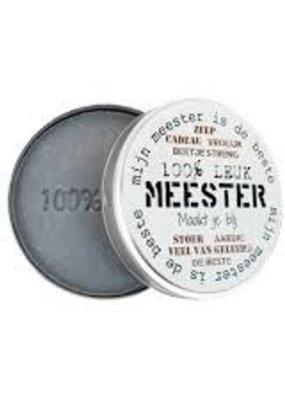 100%LEUK Zeep in blik Meester