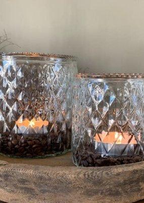 Windlicht glas geblikt groot helder
