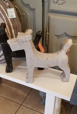 Hond hout grijs