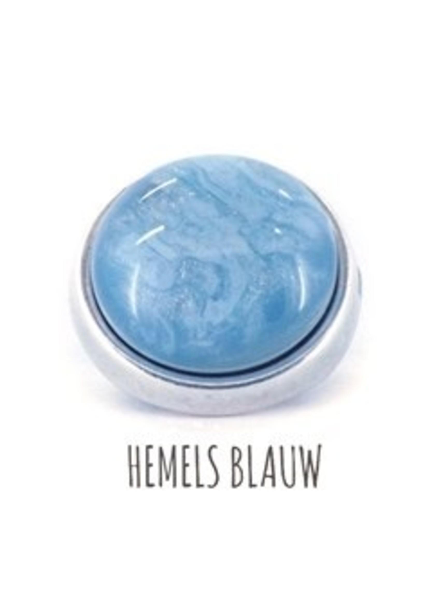 QOSS Olivia ring naturel - hemelsblauw bol
