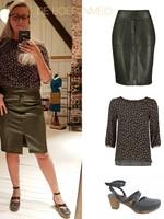 LEPEP LEPEP Skirt Fabienne Olive Maat S
