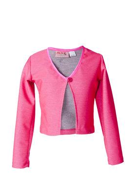 MOOI VROLIJK Mooi Vrolijk Meisjes vest roze 1048