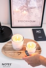 NOTES  CANDLE  LARGE IN 10 GEUREN