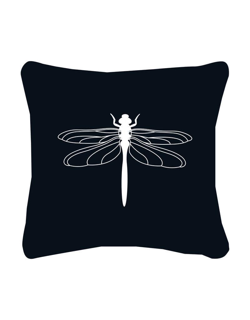 Buitenkussen Libelle zwart 40x40