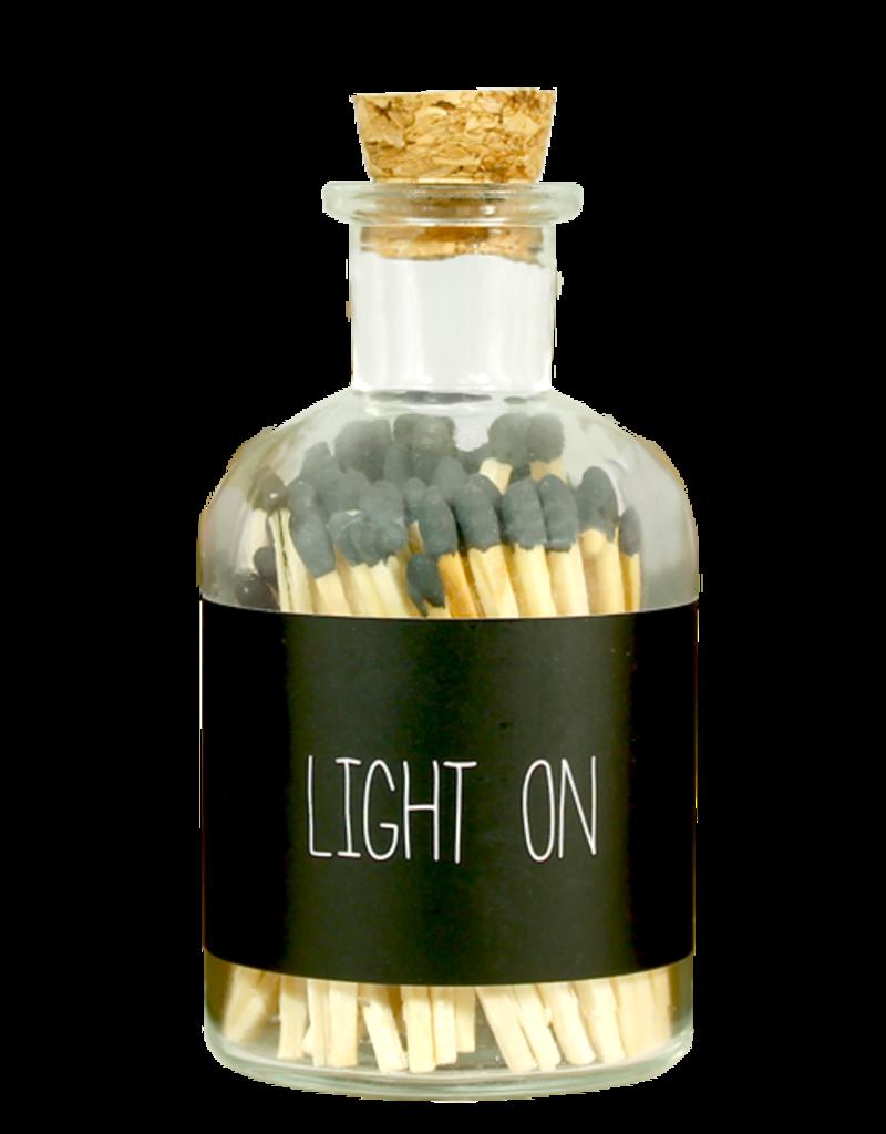 MY FLAME LUCIFERS - ZWART - LIGHT ON