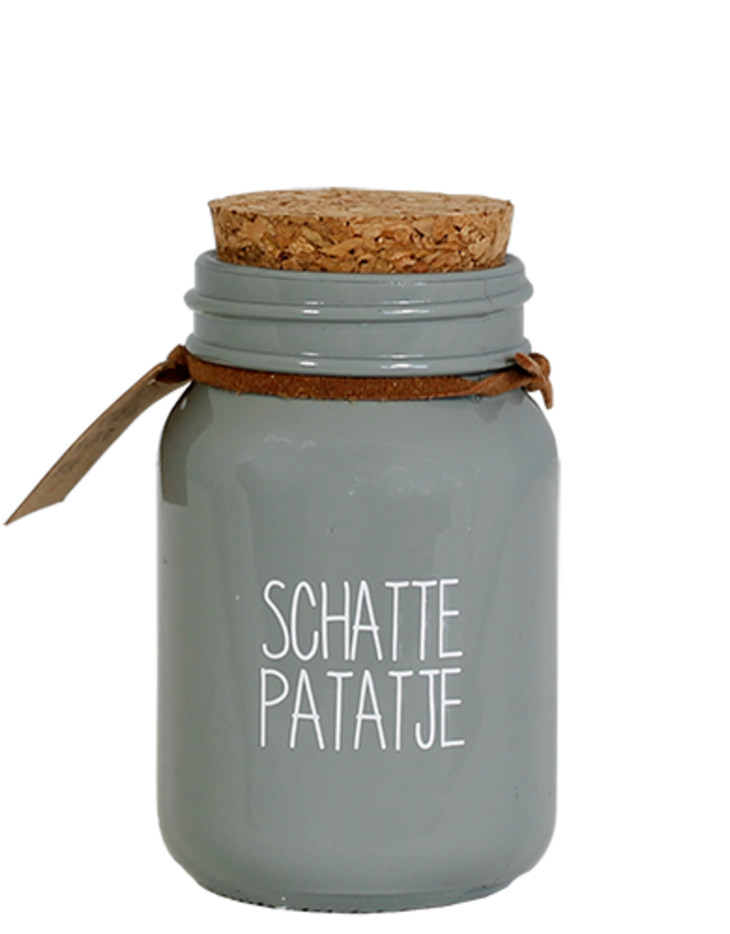 MY FLAME SOJAKAARS - SCHATTEPATATJE - GEUR: MINTY BAMBOO